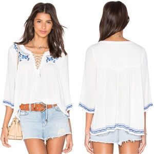 Lovers + Friends Marine Top in Ivory NWT